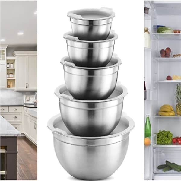 FineDine's 5 Piece Stainless Steel Mixing Bowl Set Doubles Up As A Storage Solution 2