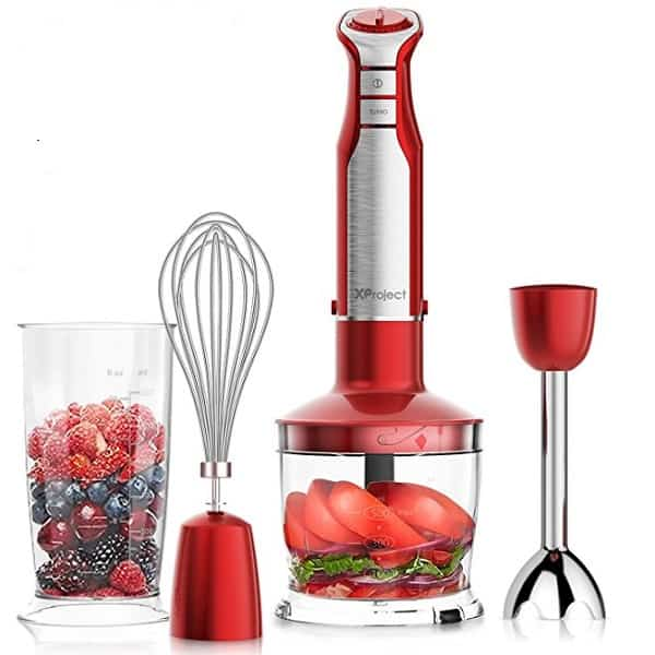 x project hand blender with accessories