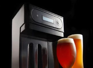 This is the Pico U Brew machine and a couple of example beers with it.