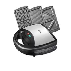 You can see the Aicok device (which includes the Aicok Sandwich Maker, Panini Press Grill, Waffle Maker, American Toaster Maker) here and the removable plates for it.