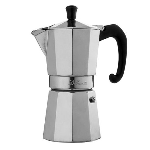 This is the Bellemain 6-Cup Stovetop Espresso Maker Moka Pot which makes fantastic espresso.