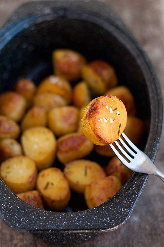 granite ware roasting pan potatoes