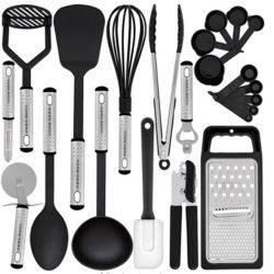 There are 23 utenisl in this Home Hero - Kitchen Utensil Set - 23 Nylon Cooking Utensils set.
