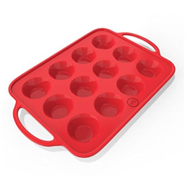 Check out the sturdy and attractive The Bake Boss Sturdy Handle & Non Stick Silicone Muffin & Cupcake Baking Pan.