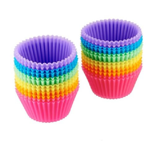This is a visual representation for The Rainbow Reusable Baking Cups from Amazon.