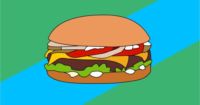 An image of a cheeseburger, you have to add your own personality to get a funny one!
