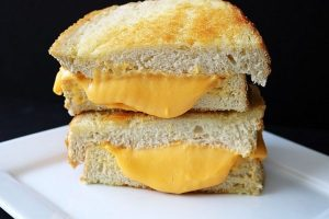 An image of a grilled cheese sandwich not the world's most expensive one.