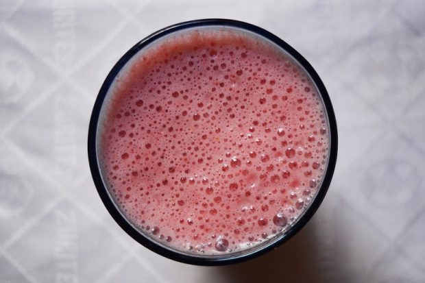 This is a regular fruit smoothie, we elected not to make McDonald's smoothies at home.