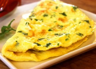a yummy looking omelet on plate