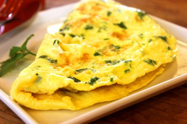 An image of an ordinary Western omelet, difficulty rating 0 to make
