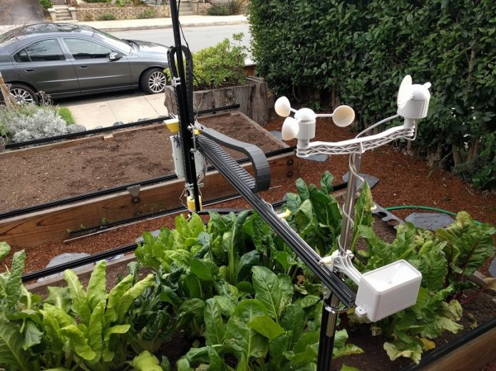 An image of the Farmbot Genesis which makes home gardening much easier.