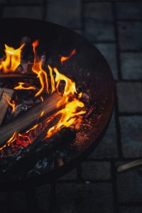 flames out of a barbecue
