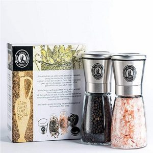 Plinius Design Premium Stainless-Steel Salt And Pepper Grinders