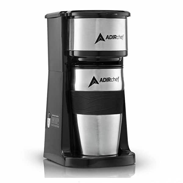 AdirChef Grab N' Go Personal Coffee Maker With 15 o.z. Travel Mug – A Style Statement That Makes Good Coffee