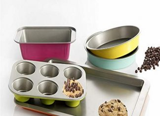Gibson Home ColorSplash Lyneham 5 Piece Carbon Steel Bakeware Set