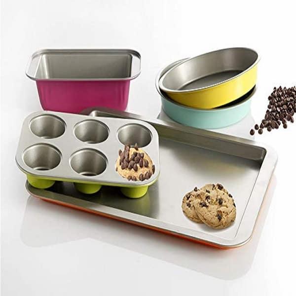 Gibson Home ColorSplash Lyneham 5 Piece Carbon Steel Bakeware Set – Value Bakeware That Rocks 2