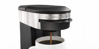 a hamilton beach coffee pod brewer