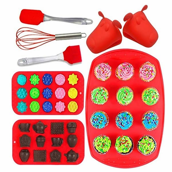 Joiedomi 8-Pieces Silicone Bakeware Set