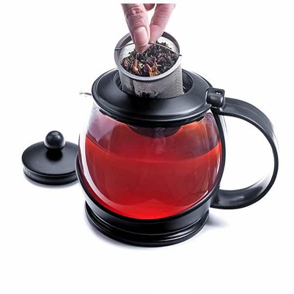 Modern Innovations Clear 40 Ounce Glass Teapot and Infuser Set