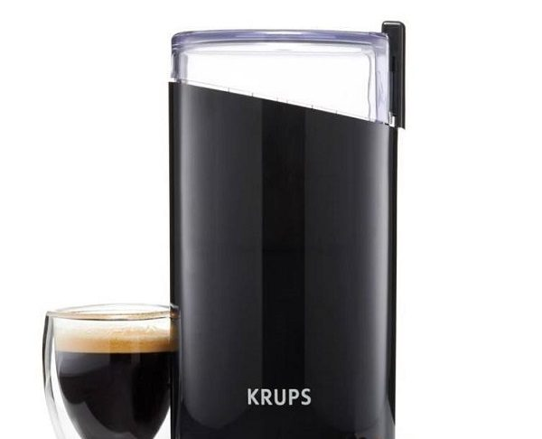 a KRUPS Electric Spice and Coffee Grinder
