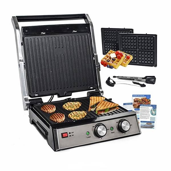 a yedi 6 in 1 panini press with deluxe accessories