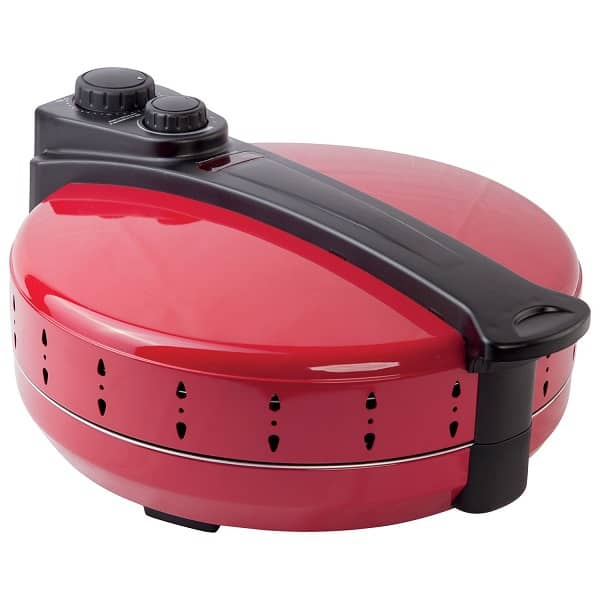 a red hamilton beach pizza maker machine