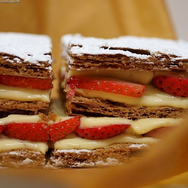 Raspberry Mille Feuille: Dessert Of The Day 2