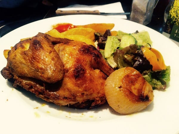 a roast chicken dinner