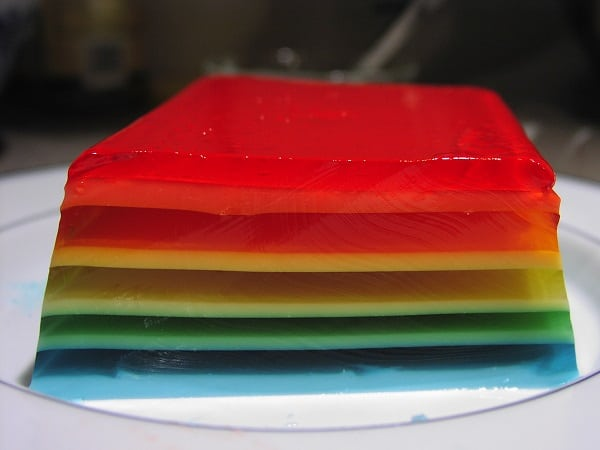 Summer Jelly Layered Pudding Recipe (No Agar Required) 2