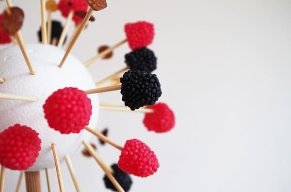berries on mini sticks