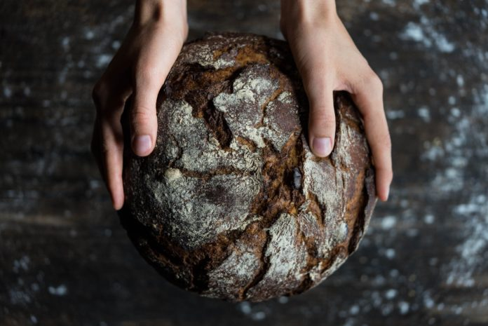 a dark bread ball