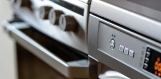 close up of a dishwasher