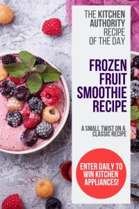 Frozen Fruit Smoothie Instructions