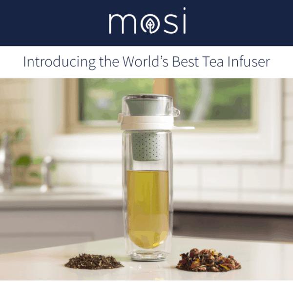 Mosi Tea Multisensory Tea Infuser to Brew and Drink Loose-leaf Tea Anywhere 1
