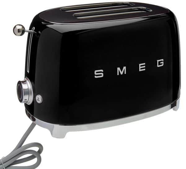 black smeg toaster with power cord