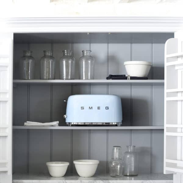 smeg toaster on shelf