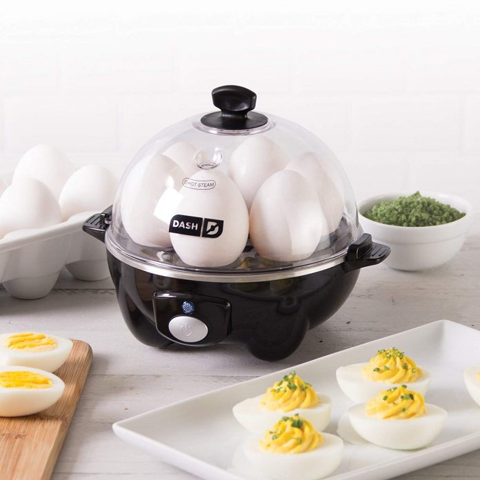dash rapid egg cooker on counter