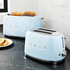two smeg toasters on counter