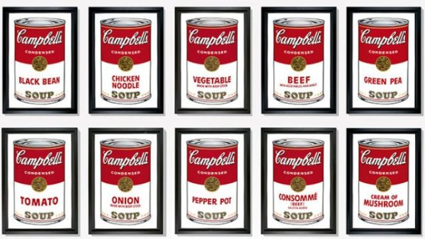 soup cans by andy warhol