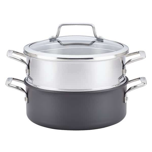 Anolon Covered Saucepan with Steamer Insert Sweepstakes 2