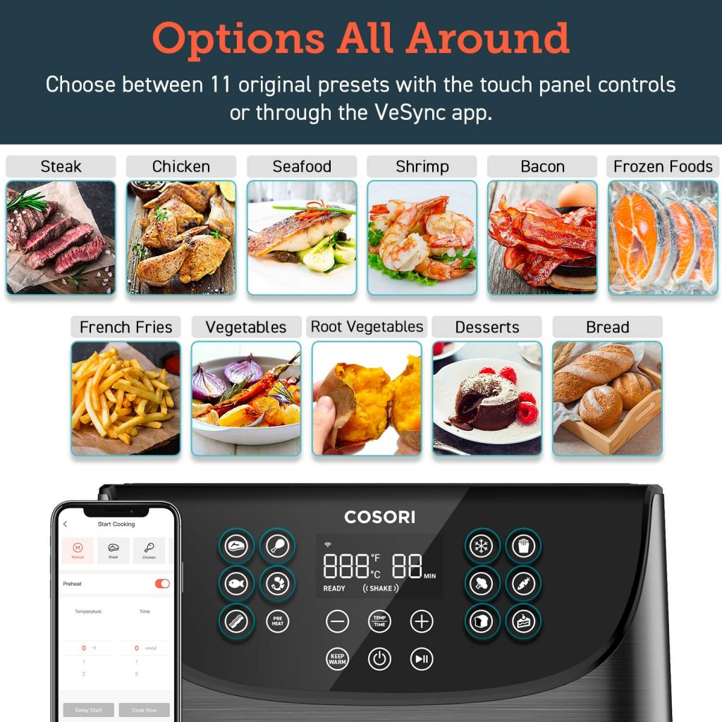 Cosori Smart WiFI Air Fryer Options