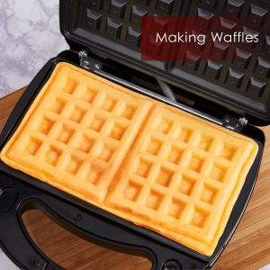 Aicok Sandwich Maker, Panini Press Grill, Waffle Maker, and American Toaster Maker Review 1