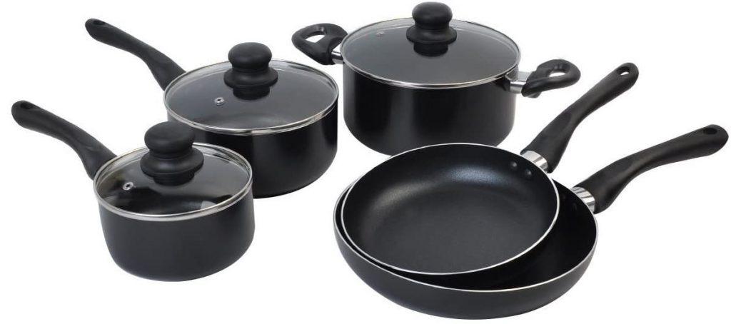 DPThouse 8 Piece Non-Stick Cookware Set