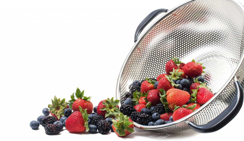 KUKPO EASY GRIP - 5-Quart Stainless Steel Colander