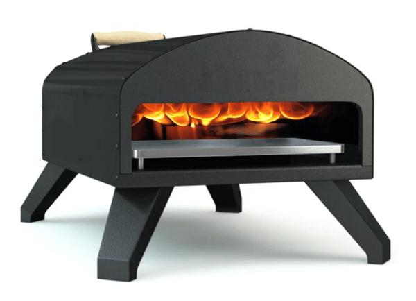 Bertello Outdoor Pizza Oven Black + Pizza Peel Combo