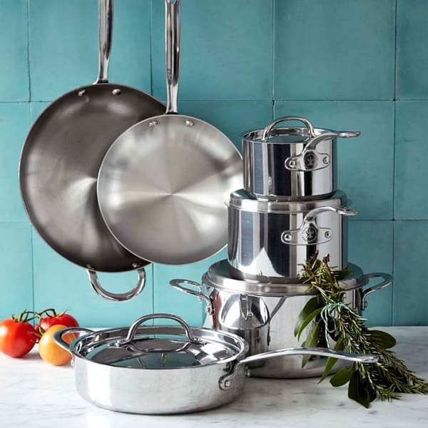 Open Kitchen by Williams Sonoma Stainless-Steel 10-Piece Cookware Set