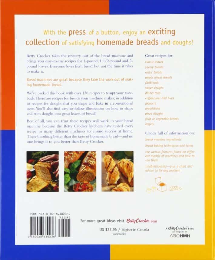 best bread machine book back
