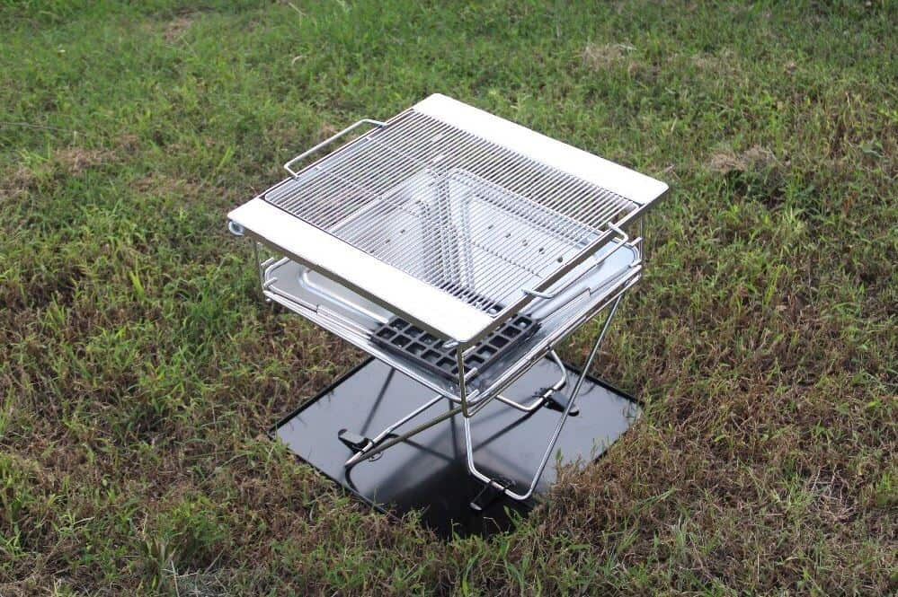 ace camp stainless steel folding charcoal bbq
