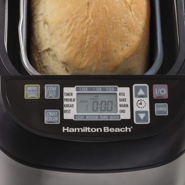 hamilton beach stainless steel bread maker