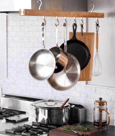 kitchen hanging pans